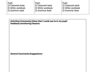 Work Sampling Grid for MFL