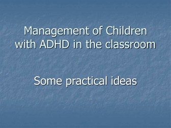 Teachers TV: ADHD in the Mainstream
