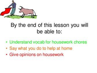 Spanish Household chores - Las tareas domesticas