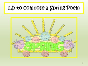 Spring  and Easter Poetry Lesson : Acrostic and Free Verse