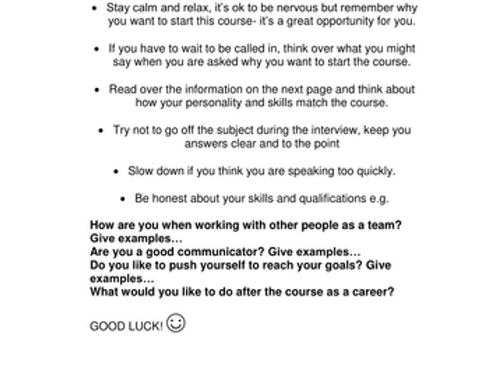 Job Search And Interview Skills