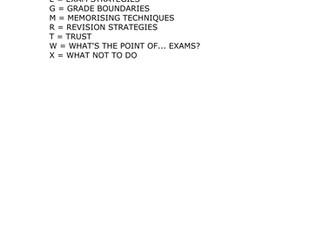 Teachers TV: The GCSE A-Z of Exam Preparation