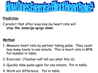 Heart rate practical