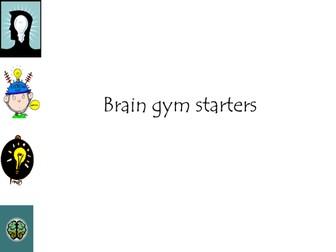 thinking warm up/ brain gym amended  hm