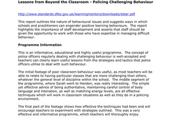 Teachers TV: Policing Challenging Behaviour