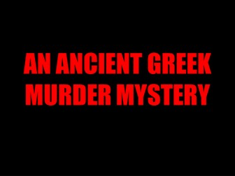Ancient Greece Murder Mystery