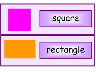 2D / 3D shape names display