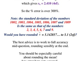 Spot the Errors: standard deviation misconceptions