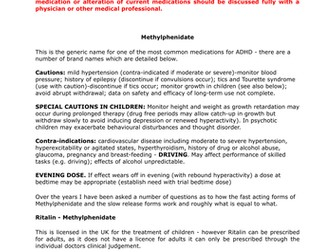 ADD/ADHD Medication