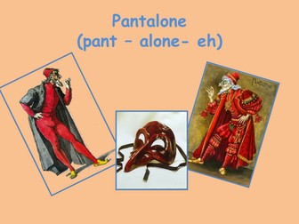 Commedia Dell'Arte Character Introduction