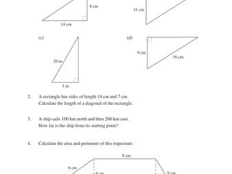 Trigonometry (MEP - Unit 15 - Year 9) - worksheets