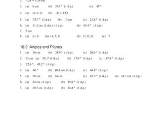 3D Geometry (MEP – GCSE) lesson, powerpoint
