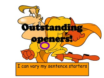Openings - how to vary sentence starters