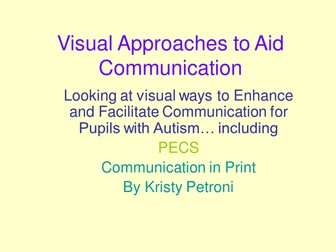 Visual Approaches To aid Communication