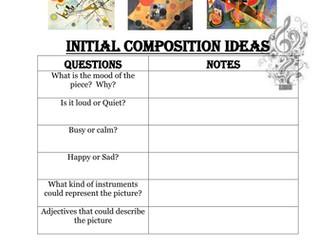 Composing Music for Visual Art