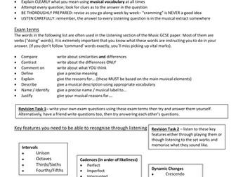 Revision support - Edexcel GCSE Music
