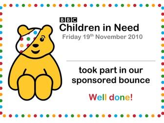 Children in Need Certificate 2010