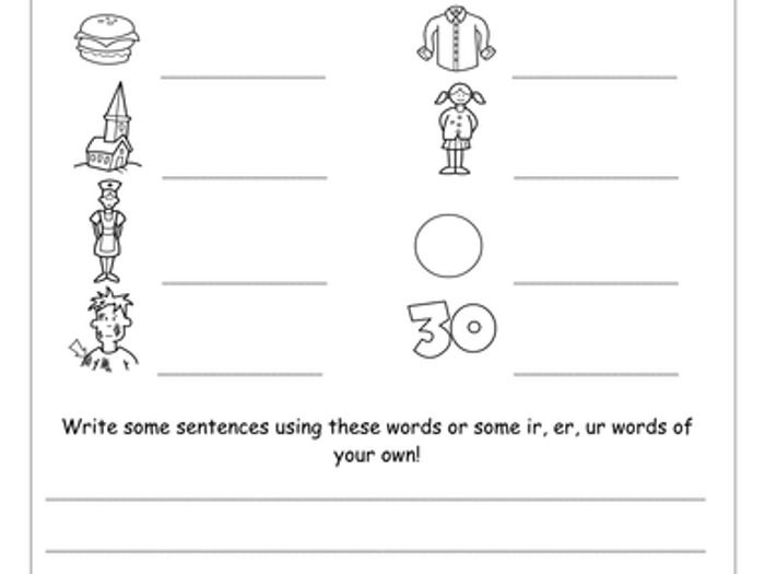 R Controlled Vowels Worksheets by Miss Giraffe | TpT