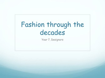 History Of Fashion Teaching Resources