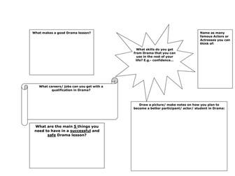Drama worksheet- Drama rules