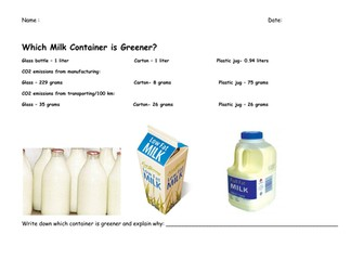 Which Milk Container is Greener?