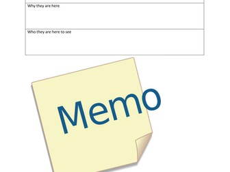 Functional Skills Memo Template for Role Play