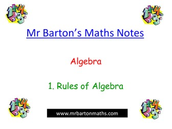 Notes - Algebra - 1. Rules of Algebra