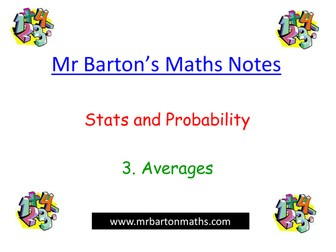 Notes - Stats & Probability- Averages.Powerpoint