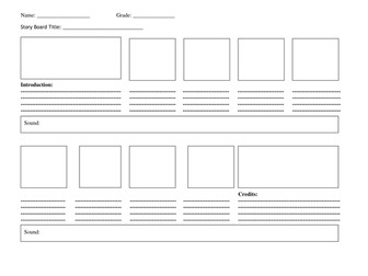 Storyboard template by cozziebrett teaching resources tes storyboard template saigontimesfo
