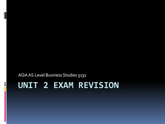 AQA AS Level Exam Revision Powerpoints