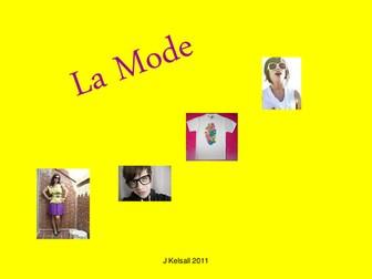 La Mode - Clothes & Colours French KS3
