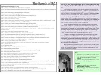 9/11 Worksheets