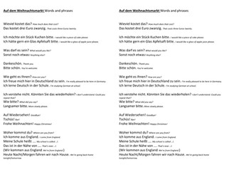 Phrases to use at a German Christmas Market
