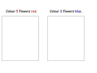 Flower Colouring 1- 5 (Spring)