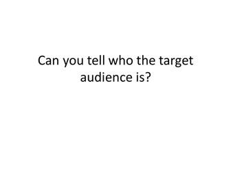 Media Target audience Powerpoint