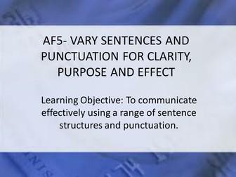 AF5- Varying Sentences for Effect