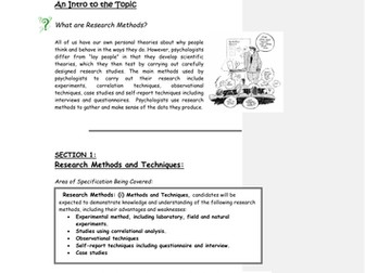 Research methods booklet