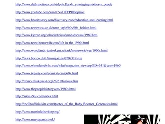 Swinging Sixties: Websites