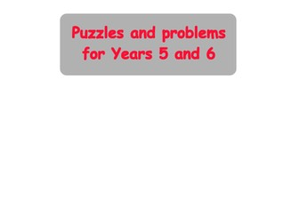Years 1 2 maths puzzles and problems by mathsresourcesnatstrats years 5 6 9 11 maths puzzles and problems fandeluxe Choice Image