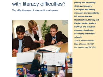 Pupils with Literacy Difficulties