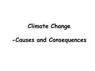 Climate Change: Causes and Consequences