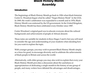 Black History Month Assembly