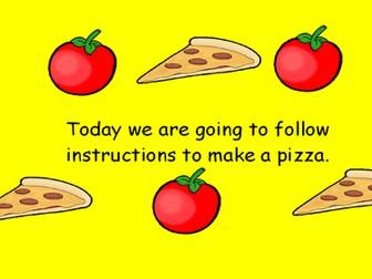KS1 Writing Instructions - Pizza