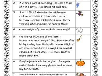 Hallowe'en Maths Quiz