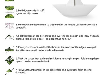 make your own origami boat by naturedetectives teaching resources
