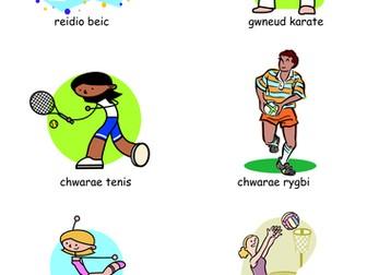 Welsh game - sports (chwaraeon)