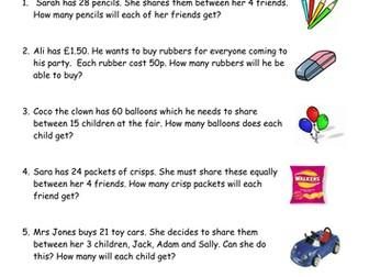 Maths Problems Year 2