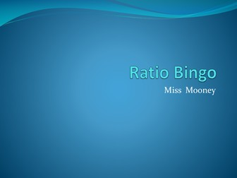 KS3 / GCSE Ratio Bingo