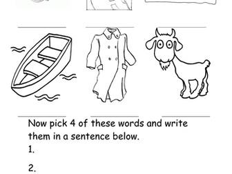 oa words worksheet