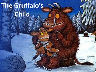 The Gruffalo's child - story with adjectives